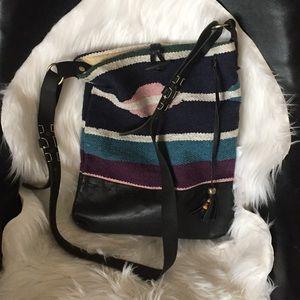 Raj Anthropologie crossbody leather blanket bag